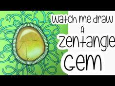 Watch me draw a Zentangle Gemstone - Volume 2 - YouTube