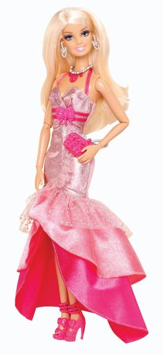 Barbie Fashionistas in The Spotlight Gown Doll, Pink