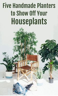 As your urban jungle is growing, you'll probably want some unique containers for your plants. The right planters can turn an already gorgeous plant into some really cool home decor. Check out these top five interesting, beautiful, and handmade displays fo