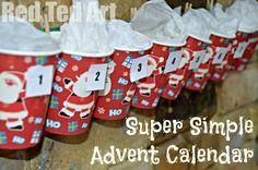 Super Easy Advent calendar! I can do this.