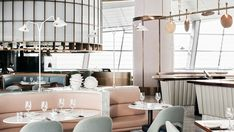 """Located at the newly opened Dubai Opera in Downtown Dubai, Sean Connolly's new brasserie, pointedly called """"Sean Connolly at Dubai Opera"""", serves steak and seafood in a venue with a mid-century aesthetic and an oceanic ambience."""