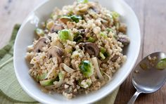 Here's a hearty, flavorful dish that takes care of a few special diet needs your guests may have. It can simultaneously serve as a gluten-free, vegetarian side dish or a main course for four. Use any mushrooms you like, including cremini, oyster or portobello. For extra flavor and vegetarian protein, garnish with chopped toasted walnuts. Millet has wonderful flavor, especially when toasted and, like quinoa or brown rice, makes an excellent gluten-free stuffing alternative.