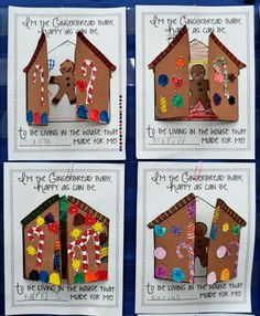 4 Last Minute Gift Ideas: DIY for Kids - Best of Christmas, Hanukkah, Kwanzaa & More! - Kindergarten & First Grade - Gingerbread Baby Activities… Would be cute to glue gingerbread boys and girls inside with target - Gingerbread Man Activities, Christmas Activities, Kids Christmas, Baby Activities, Gingerbread Houses, Gingerbread Crafts, Kindergarten Christmas, Gingerbread Stories, Xmas