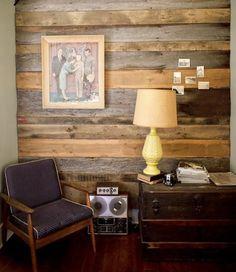 drewniane panele; drewniane ściany; nowoczesna boazeria; recycling; wooden wall panels