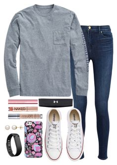 """Untitled #151"" by valerienwashington on Polyvore featuring J Brand, Vineyard Vines, Converse, Vera Bradley, Fitbit, Honora, Under Armour, Urban Decay, Too Faced Cosmetics and women's clothing"