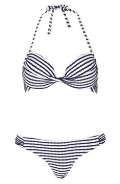 Topshop Stripe Textured Bikini | Nordstrom