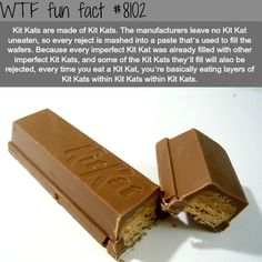 What are Kit Kats made of - WTF fun facts