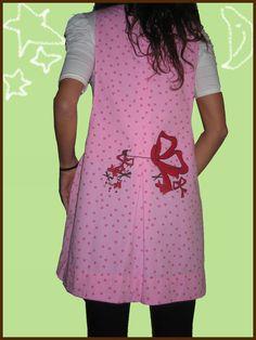 Regalo con lazo ;) Andereño poxpoliña, izarren artean.  Una maestra presumida ;) Baby Sewing, Apron, Summer Dresses, Clothes, Patterns, Fashion, Lab Coats, Cute Aprons, Dressmaking