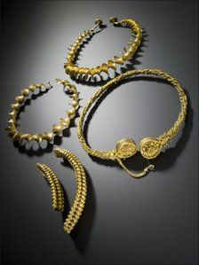 Scottish treasure trove revealed    The torcs earned their finder a reward of almost £500,000  Continue reading the main story  Related Stories    Scotland 'to keep' Iron Age gold  Reward for Iron Age treasure find  Torc finder detects medieval seal  A hoard of gold Iron Age torcs found near Stirling is among the highlights of the sixth annual Scottish Treasure Trove report.