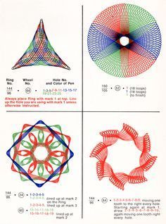 Scans from How to Draw with Spirograph; 1967 | Present&Correct