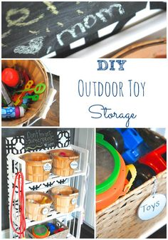 DIY Outdoor Toy Storage Makinglemonadeblog.com
