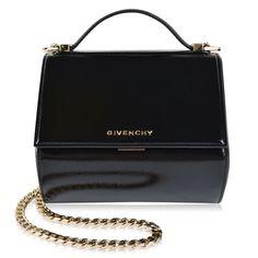 Givenchy   Patent Pandora Medium Box Shoulder Bag