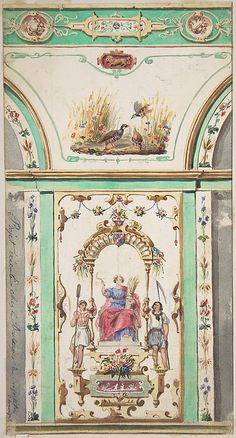 Design for Painted Wall Decoration for a Bakery Jules-Edmond-Charles Lachaise  (French, died 1897)