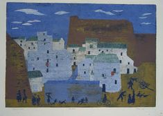 Finding Henry - Old Medieval Village 3 Arts, Printmaking, Medieval, Painting, Illustrations, Architecture, Google, Pictures, Arquitetura