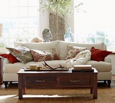 "Carlisle Upholstered Sofa | Pottery Barn, avail as 70"" loveseat and 80"" sofa"