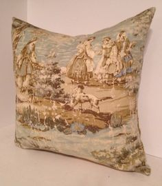 Decorative Pillow Cover and/or Valance in Covington Bosprus Toile by PillowLoftHomeDecor on Etsy https://www.etsy.com/listing/200969210/decorative-pillow-cover-andor-valance-in
