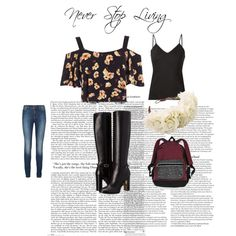 Never Stop Living by saanvib on Polyvore featuring polyvore, fashion, style, Miss Selfridge, Frame Denim, Lipsy, Burberry, Victoria's Secret, Rock 'N Rose and ASOS