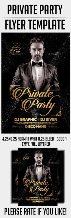 Private Party Flyer Template PSD