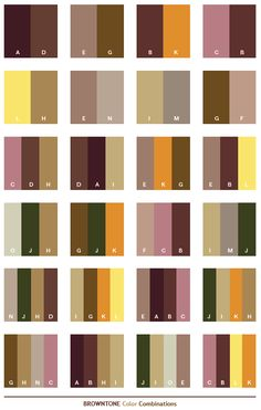 Color Schemes Brown Tone Combinations Palettes For Print