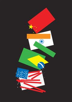 James Joyce NY Times International Flags Graphic art poster