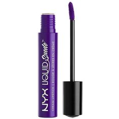 Charlotte Russe Amethyst NYX Liquid Suede Cream Lipstick ($7) ❤ liked on Polyvore featuring beauty products, makeup, lip makeup, lipstick, purple and charlotte russe