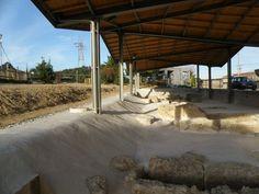 archaeological site protection canopy at the coca cola courtyard. | Spyros Kakavas, Eleni Klonizaki | LinkedIn