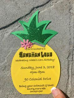 Luau Birthday Invitations, Moana Birthday Party, 13th Birthday Parties, Adult Birthday Party, Hawaiian Luau Party, Tropical Party, Mexico Party, Water Party, Tiki Party