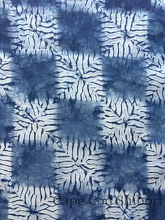 Shibori Indigo Cotton Fat Quarter