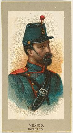 Infantry, Mexico, from the Military Uniforms series (T182) issued by Abdul Cigarettes