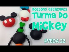 DIY - Bottons Estilizados Turma do Mickey - Sah Passa o Passo #VEDA 22 - YouTube