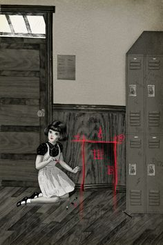 """The Haunted School"""" A piece I created for Monster Edition, a full color zine inspired by R.s Goosebumps. More info and pre-orders can be found here. Illustrations, Illustration Art, Don Kenn, Kids Graphic Design, Haunted Woods, Magical Room, Dark Wings, Fright Night, Animation"""