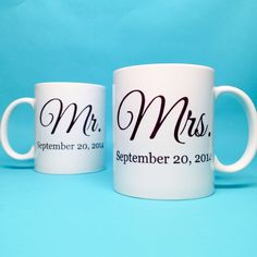 Unique Wedding Gift Idea - Bridal Shower Gift - Mr and Mrs Coffee Mug - Unique Bridal Shower Gift - Wedding Gift Idea - Ceramic Coffee Mug by TheBridalCorner on Etsy
