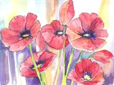This was the first batch of poppies I did