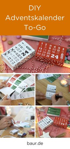 Advent calendar to do it yourself: find here the . Advent calendar to do it yourself: find here the . To Go, Diy Advent Calendar, Advent Calendars, Glue Sticks, Christmas Mood, Make It Simple, Gift Wrapping, Place Card Holders, Creative