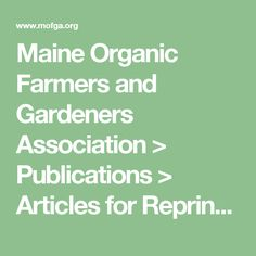 Maine Organic Farmers and Gardeners Association > Publications > Articles for Reprinting > Sweet Potatoes