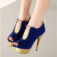 Stylish Peep toe Back Zip Design High Heels Fashion Sandals
