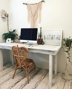 9 Best Boho Office And Bohemian Workspaces Images Desk Office