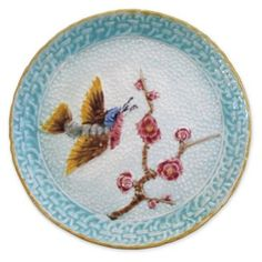 Check out this item at One Kings Lane! Antique Majolica Bird Plate