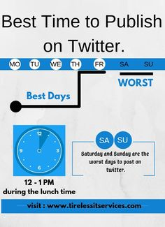 Best time to Publish on Twitter. Internet Marketing Company, Bad Day, Twitter, Internet Marketing Firm, Sick Day