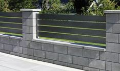Semmelrock products enhance the landscape we live in: from private gardens to public places, streets and walkways. House Fence Design, House Main Gates Design, Modern Fence Design, Front Gate Design, Front Garden Entrance, Front Door Landscaping, Landscaping Retaining Walls, Backyard Patio Designs, Backyard Fences