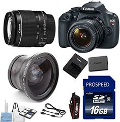 Deluxe Bundle for T5 Digital SLR Camera + 18-55mm IS lens + 58mm Wide Angle AUX LENs Lens + 16gb Memory + 6pc Stater Kit