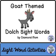 This set includes all 220 Dolch words and is in both color and black and white. It was inspired by the Chinese New Year zodiac. It can be played anytime.Goat Sight Word Memory GameThe game is played as a typical memory game. You will need to make 2 copies of each sheet in order to do the matching.Goat Sight Word Flash CardsUsing the same templates, practice the sight words in pairs or in sets.