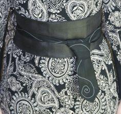 Ceinture noir cravate | Lcréation