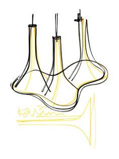 Nafir sketches by Karim Rashid #nafir #karimrashid #design #interiordesign #axolight