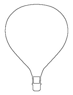 simple hot air balloon coloring page | free printable coloring ... - Hot Air Balloon Pictures Color