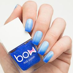 This shimmering and vibrant blue polish can be placed on top of any manicure. Collection: Conversion Gorgeous nails by nailsannagorelova