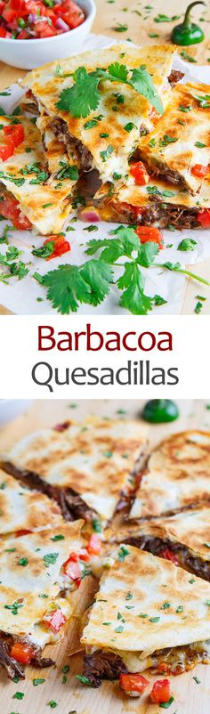 Just when you thought you've seen it all, along comes Barbacoa Quesadillas!