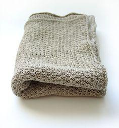 Organic Baby Blanket  Linen blanket  Knitted door myBlueMeadow, $44.00