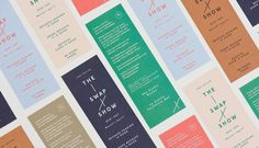 Gorgeous identity for The Swap Show designed by Foreign Policy . The Swap Show is an exhibition exchange bet. Ticket Design, Menu Design, Layout Design, Print Design, Label Design, Package Design, Graphic Design Branding, Typography Design, Lettering