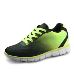 Fluorescence taller sneakers add height 6.5cm / 2.56inch lightweight breathable running shoes
